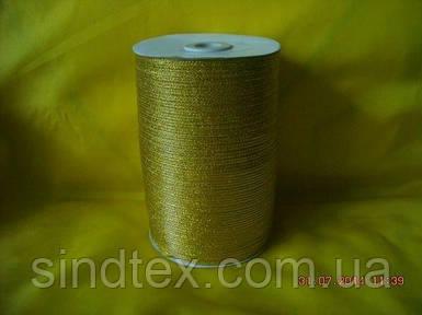 Лента парча 0,3 см. золото