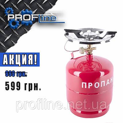 Комплект газовый кемпинговый 8 л. INTERTOOL GS-0008, фото 2