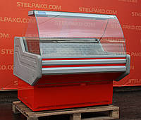 Низкотемпературная витрина (морозильная) «Айстермо» 1.2 м. (Украина), Широкая выкладка 65 см., Б/у