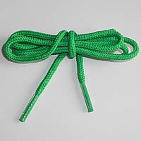 Шнурки обувные полиэфирные. Круглые, 0,7 м. (зелёные)