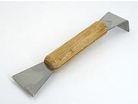 Стамеска пасечная с деревянной ручкой, Нержавеющая.