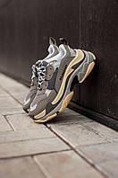 Женские кроссовки Balenciaga Triple S Gray (Реплика ААА+), фото 1