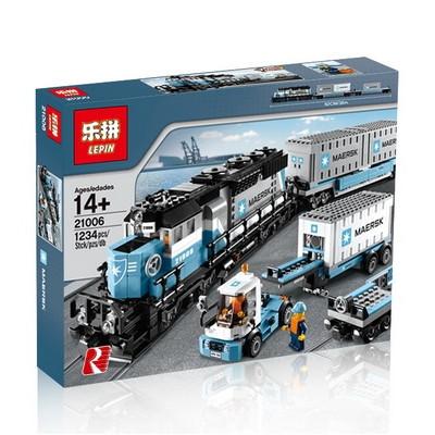 "<b>Конструктор Lepin 21006</b> ""<b>Грузовой</b> поезд Maersk"" (аналог Lego ..."