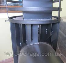 Печка для бани ВИТ малая с круглой сеткой, вынос топки, фото 3