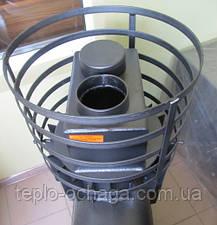 Печка для бани ВИТ малая с круглой сеткой, вынос топки, фото 2