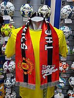 Шарф фанатский шелковый с символикой FC Manchester United