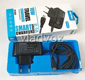 Сетевое зарядное устройство зарядка для мобильного телефона планшета и видеокамеры micro USB 2,1A 5V Sertec, фото 2