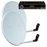 Комплект спутникового ТВ на 4 спутника для 2-х ТВ