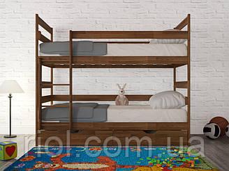 Кровать из бука детская двухъярусная Ясна ТМ Олимп