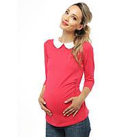 Топ с круглым воротником для беременных— малиновый