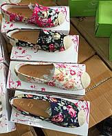 Мокасины в цветочек для девочек Размеры  31-36