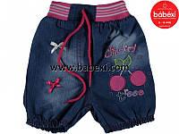 Джинсовые шортики для девочек 1 2 3  года. Турция!!!
