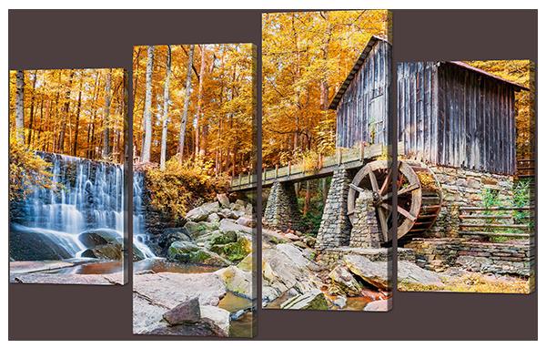 Модульная картина Interno Холст Водная Мельница 146x93см (R914XL)