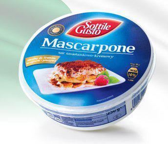 Сыр Mascarpone Sottile Gusto 250г. Польша