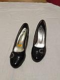 Туфельки на каблуке, кожзам, фото 7