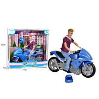 Кукла Кен  68112, 30см, шарнирный, мотоцикл 33см