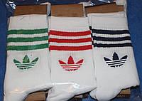 Носки мужские в стиле Adidas 42-45 размер,высокие,белые. 12 пар.