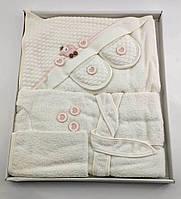 Подарочный набор банный халат от 0 до 2 лет  для купания подарок для новорожденных на новорожденых, фото 1