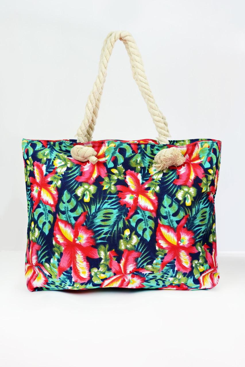 05428614947f Пляжные сумки Famo Пляжная сумка Бенидорм зеленая 50х10 см - 135423 - Tali  Store - покупай