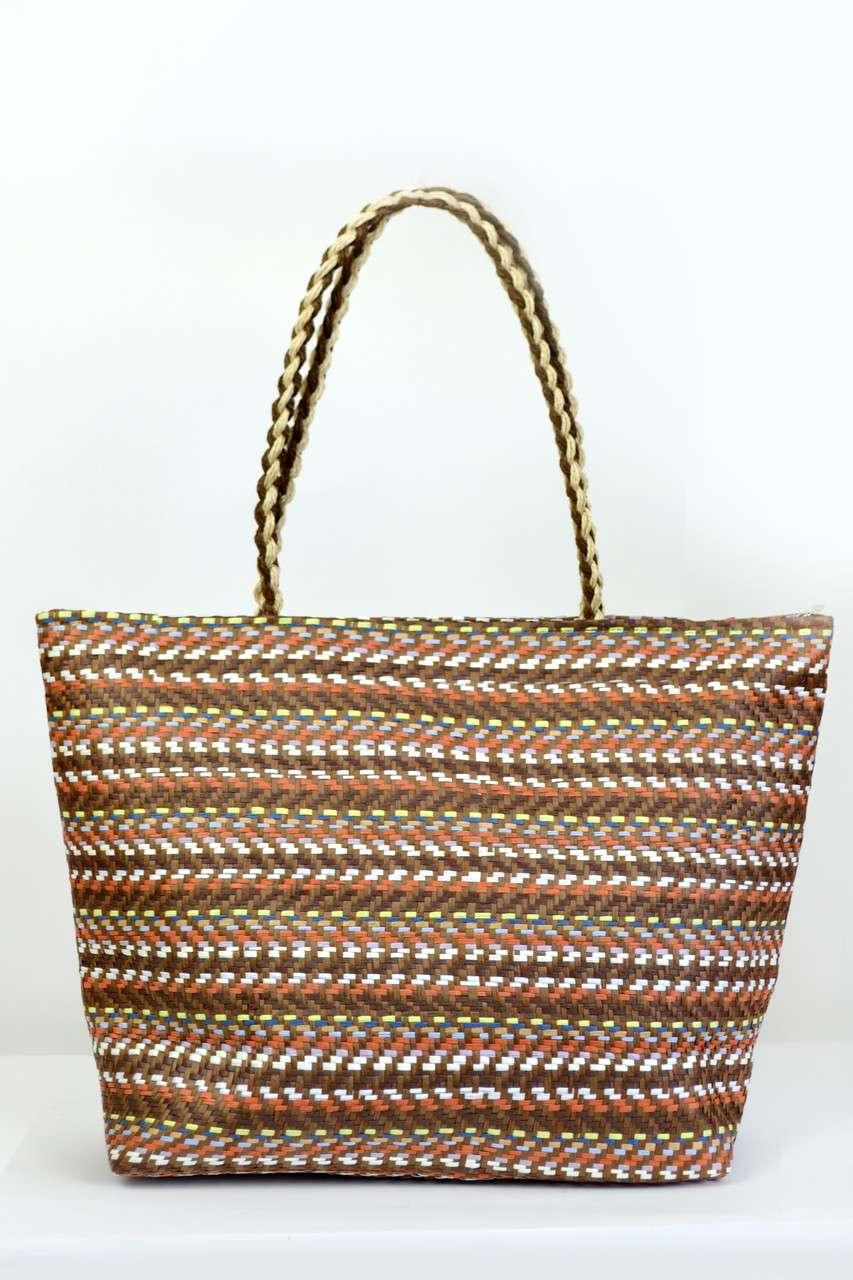 69eb619a700d Пляжные сумки Famo Пляжная сумка Верона шоколадная 50х16 см - 135429 - Tali  Store - покупай