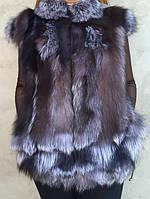 Жилет женский из чернобурки, фото 1