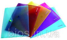 Папка-конверт на кнопку В5 прозора SOZ 03501
