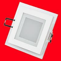 Встраиваемый квадратный Даунлайт (Downlight) 6W glass, фото 1