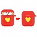 Защитный силиконовый чехол для Apple Airpods Красный, фото 2