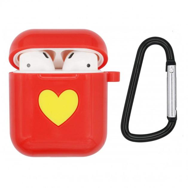 Защитный силиконовый чехол для Apple Airpods Красный
