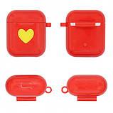 Защитный силиконовый чехол для Apple Airpods Красный, фото 3