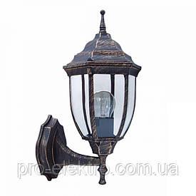 Светильник парковый RIGHT HAUSEN (метал/античное золото) 6 округлых граней 60W E27 ВВЕРХ HN-193028