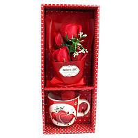 Подарочный набор букет роз в чашке Love - 132012