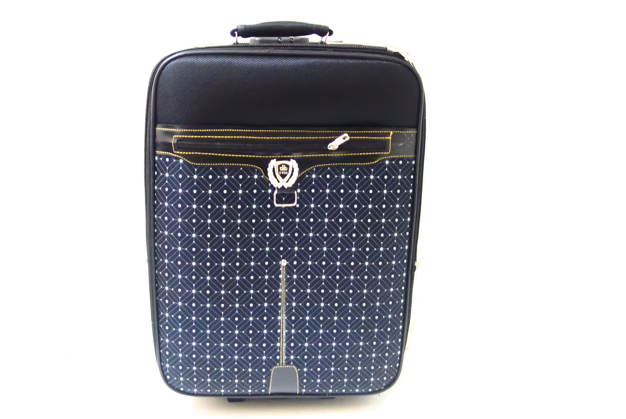 """Дорожный чемодан 20"""" Lin Sheng R16356 Черный в горошек"""