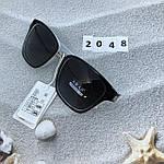 Солнцезащитные очки Aras Polarized черные линзы с белыми дужками, фото 5