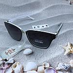 Солнцезащитные очки Aras Polarized черные линзы с белыми дужками, фото 6
