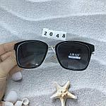Солнцезащитные очки Aras Polarized черные линзы с белыми дужками, фото 7