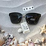 Солнцезащитные очки Aras Polarized черные линзы с белыми дужками, фото 4