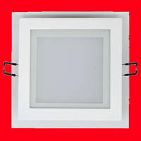 Встраиваемый квадратный Даунлайт (Downlight) 18W glass, фото 1