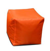 Оранжевый пуфик кубик 35*35*35 см из ткани Оксфорд, фото 1