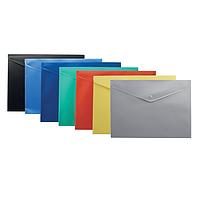 Папка-конверт на кнопку В5 непроз. асорті