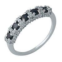 Серебряное кольцо 925 пробы с натуральным сапфиром