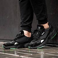 Мужские кроссовки Adidas  Falcon black (Реплика ААА+), фото 1