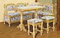 Уголок кухонный дубовый + стол + табуретки
