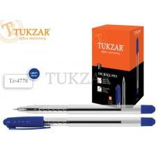 Ручка шариковая с чернилами на масляной основеигольчатый пишущий узел 0.7 мм;  прозрачный пластиковый корпус;