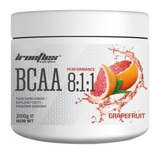 Аминокислоты IronFlex - BCAA 8:1:1 (200 грамм) grapefruit/грейпфрут