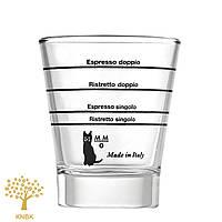 Мірний стакан Motta (оригінал) для приготування кави (еспрессо шот). 22мл,30мл,44мл,60мл.