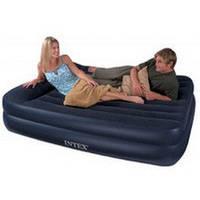 Надувная кровать Queen Rising Comfort Intex 66720 (157х203х47 см.) без насоса