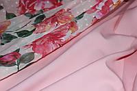 Светло розовый . Ткань креп костюмка барби однотонная №310 балетная туфелька, фото 1