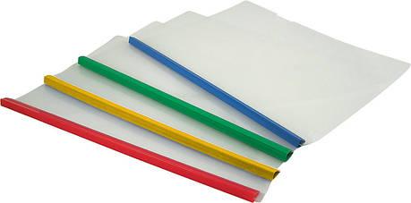 Папка-скоросшиватель А4 Axent 1417 пластиковая с планкой-прижимом, 10 мм, фото 2