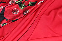 Барби. Ткань креп костюмка красная №312, фото 1
